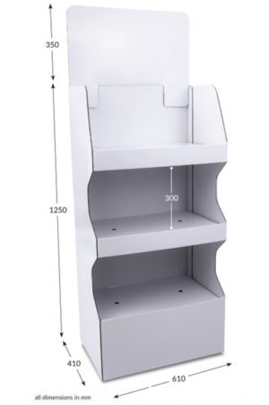 3 Shelf Wide Popup FSDU - yesPOS.de